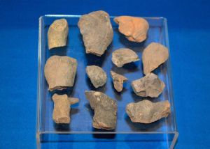 "A very cheap group of 12 assorted ""Vinca Culture"", Early Neolithic fragments from pottery votive figures, Rare. SOLD"